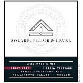 Square, Plumb & Level 2016 Pinot Noir, Libra Vyd., Yamhill-Carlton, Willamette Valley