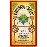 Manzanita Creek 2016 Zinfandel, Old Vine, Cloud Buster, Russian River Valley