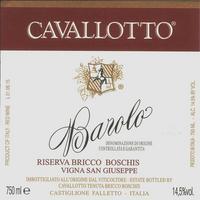 Cavallotto 2013 Barolo Riserva, San Giusepe