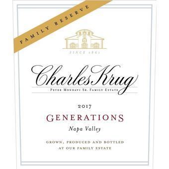 Charles Krug 2017 Generations Red Reserve, Napa Valley
