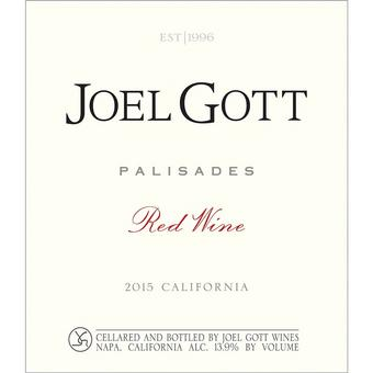 Joel Gott 2015 Palisades Red Blend, California