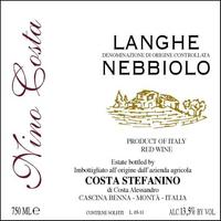 Nino Costa 2019 Nebbiolo, Langhe