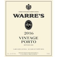 Warre's 2016 Vintage Port