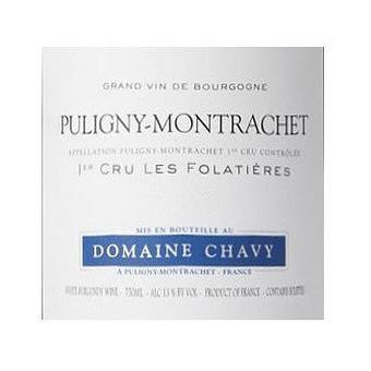 Domaine Chavy 2018 Puligny-Montrachet, Les Folatieres 1er Cru