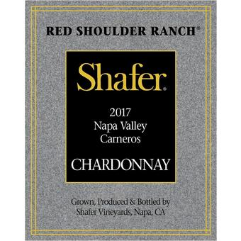 Shafer 2017 Chardonnay, Red Shoulder Ranch, Carneros