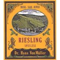 Riesling Spatlese 2019 Mosel, Dr. Hans Von Muller