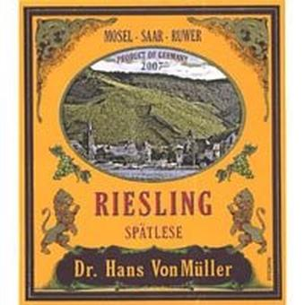 Riesling Spatlese 2020 Mosel, Dr. Hans Von Muller