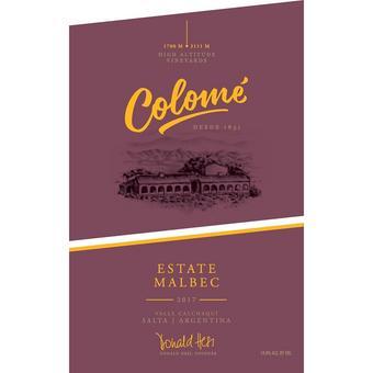 Bodegas Colome 2017 Estate Malbec, Calchaqui Valley