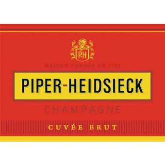Piper-Heidsieck NV Brut w/ Gift Travel Case and 2 Champagne Flutes