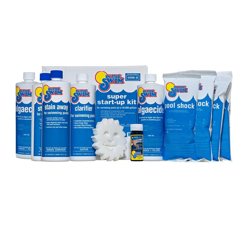 Up To 30000 Gallons Pool Chemical Start Up Kit