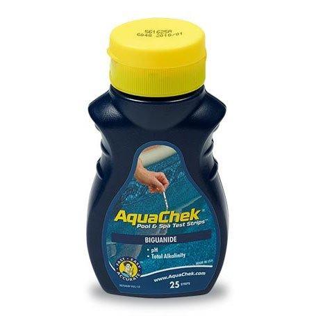 25 Count Aquachek Blue Biguanide Pool Water Test Strips