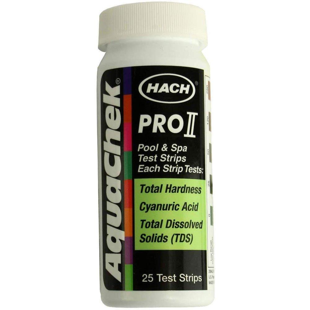 25 Count Aquachek Pro Ii Calcium Hardness Cyanuric Acid Tds Test Strips