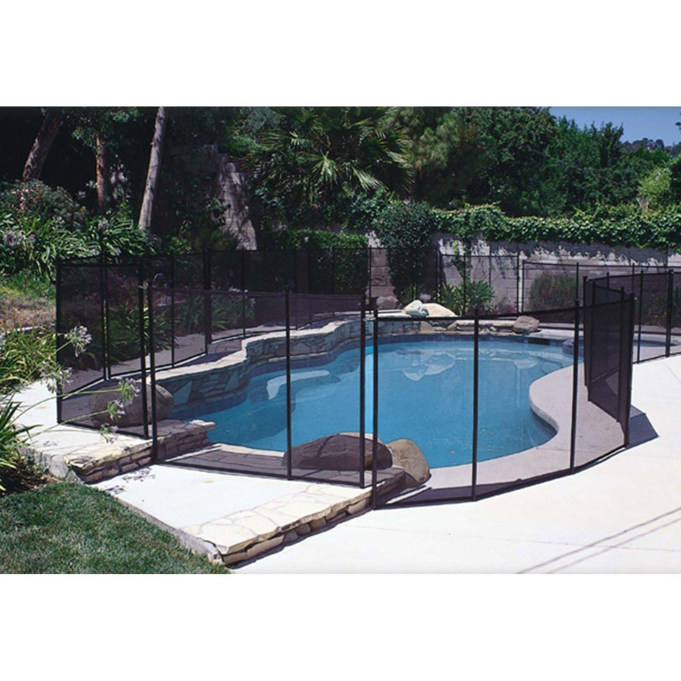 In Ground Pool Safety Fence 4 Ft X 10 Ft Section