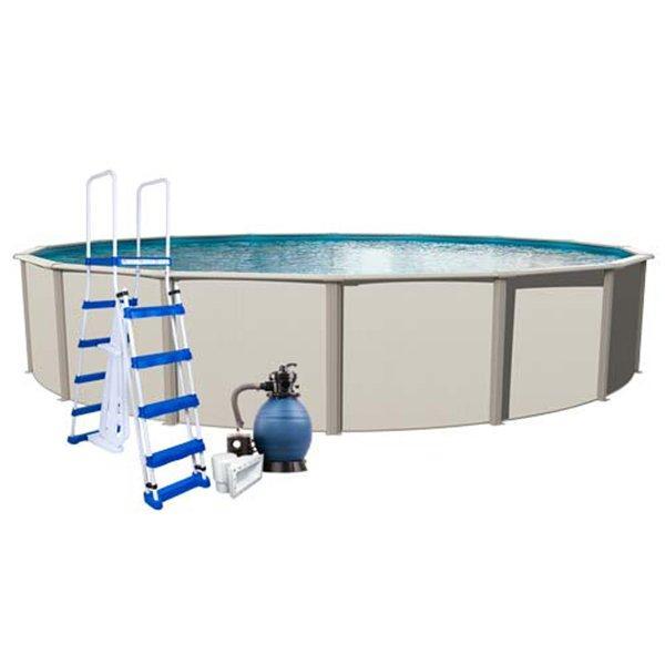 Aqua Splash Pro Weekender 21 Ft Round 48 Inch Wall Pool Package