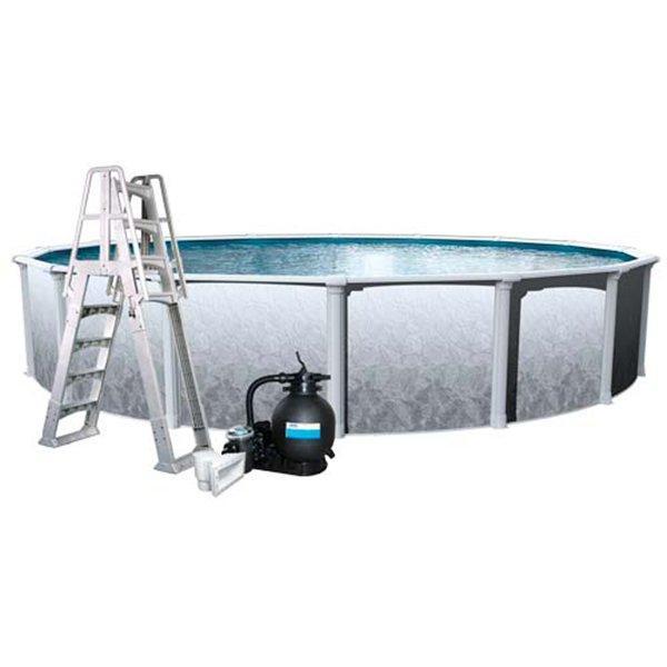 Aqua Splash Pro Weekender Plus 18 Ft Round 52 Inch Wall Pool Package