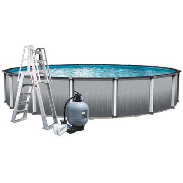 Aqua Splash Pro Weekender Premium 18 Ft Round 52 Inch Wall Pool Package