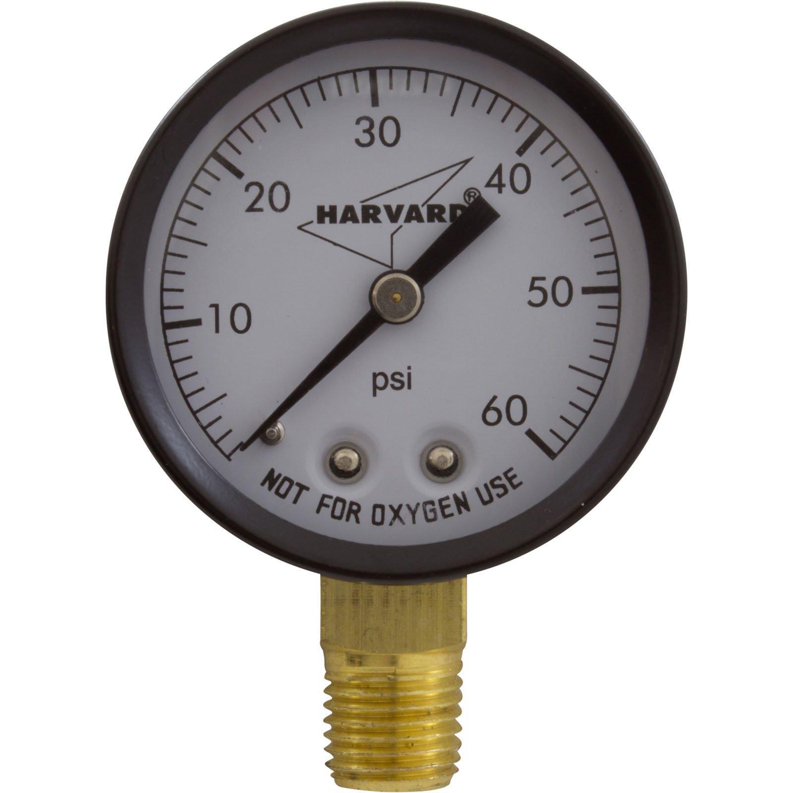 2 Inch Pool Filter Pressure Gauge 0 60 Psi Bottom Mount