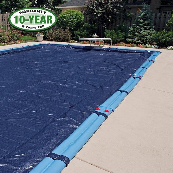 10 Year 16 X 24 Rectangle Pool Winter Cover 0 Tubes