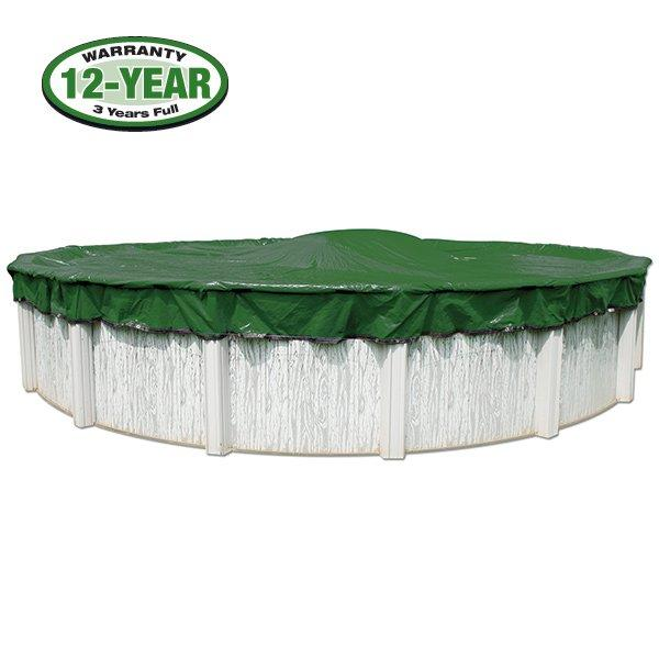 12 Year 16 X 32 Oval Pool Winter Cover 0 Clips