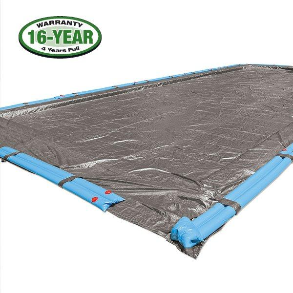16 Year 12 X 20 Rectangle Pool Winter Cover 0 Tubes