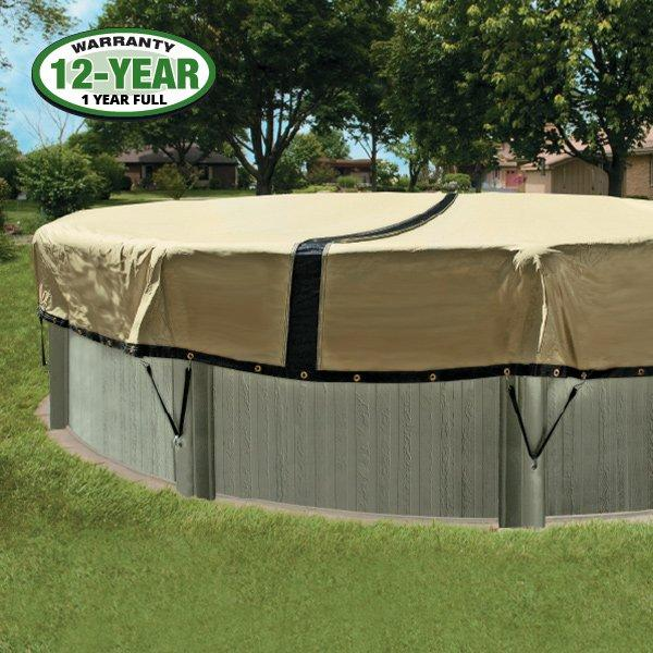 12 Year 12 Ftx18 Ft Oval Ultimate 3000 Above Ground Winter Pool Cover