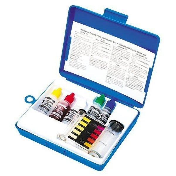 4 Way Liquid Solution Pool Water Test Kit