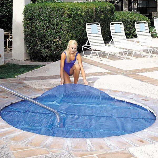 15 Mil 9 Ft X 9 Ft Floating Solar Spa And Hot Tub Cover Blanket