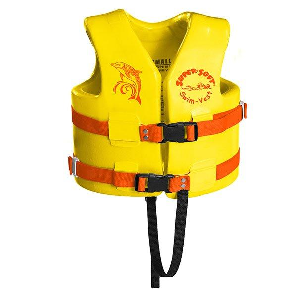 Texas Rec Supersoft Swim Life Vest Small 23 24In Yellow