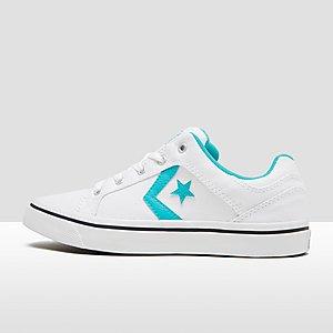converse el distrito ox sneakers wit/zwart