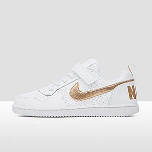 f27c933e981 NIKE COURT BOROUGH LOW SNEAKERS WIT/GOUD KINDEREN