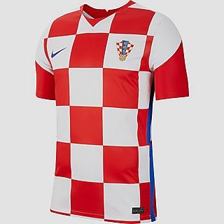 NIKE UEFA EURO 2020/2021 HNS KROATIE BREATHE STADIUM THUISSHIRT WIT/ROOD 20/22 HEREN