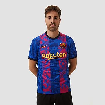 NIKE FC BARCELONA STADIUM THIRD SHIRT 21/22 BLAUW/ROOD HEREN