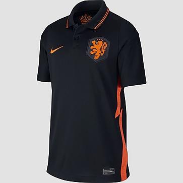 NIKE UEFA EURO 2020 KNVB NEDERLAND BREATHE STADIUM UITSHIRT 20/22 ZWART/ORANJE KINDEREN