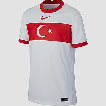 NIKE UEFA EURO 2020/2021 TFF TURKIJE BREATHE STADIUM THUISSHIRT 20/22 WIT/ROOD KINDEREN