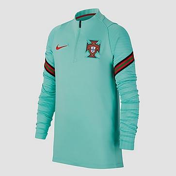 NIKE UEFA EURO 2020/2021 FPF PORTUGAL DRI-FIT STRIKE DRILL TRAININGSTOP 20/22 GROEN KINDEREN