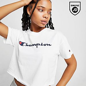 Champion Crop Script T Shirt