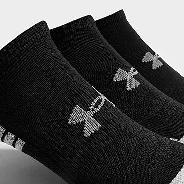 Under Armour 3 Pack HeatGear Tech No Show Socks
