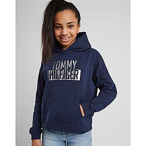 3310d5396f3cf8 Tommy Hilfiger Girls  Essential Logo Crop Hoodie Junior