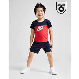 b733c1ef65 Nike Futura Colour Block T-Shirt/Shorts Set Infant ...
