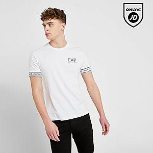 25704898fcde4 Emporio Armani EA7 Short Sleeve Tape T-Shirt ...