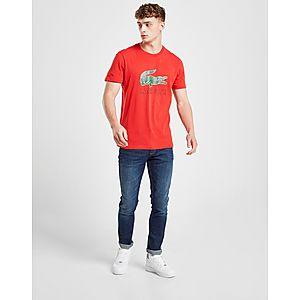 0baf5c74 ... Lacoste Large Crocodile Logo Vintage T-Shirt