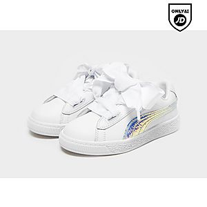 hot sale online be2b8 809e0 Childrens Footwear (Sizes 10-2) - Puma Basket Heart | JD Sports