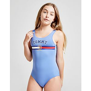 e21f314916 Tommy Hilfiger Girls' Logo Swimsuit Junior ...