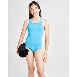 0f393f0694 Calvin Klein Girls' Cross-Back Swimsuit Junior ...