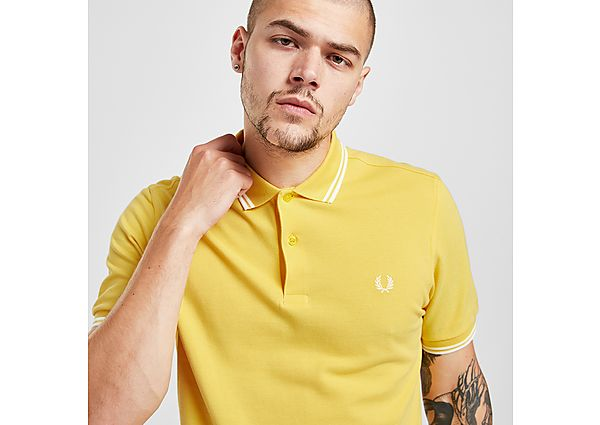 Fred Perry Twin Tipped Polo Shirt - Yellow - Mens
