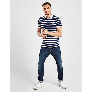 a80234df6 ... Fred Perry Stripe Pique Short Sleeve Polo Shirt
