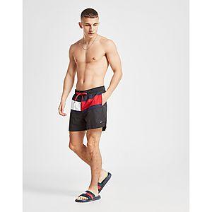 d00b7d7c8e8e Tommy Hilfiger Large Flag Swim Shorts ...