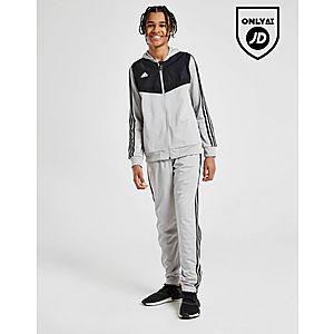 8d1fa8cf2 adidas Originals Tiro Hooded Poly Tracksuit Junior ...