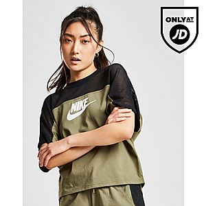 c7d6800556549 Nike Colour Block Mesh T-Shirt ...