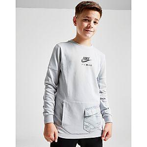 8bf41dfb75f Nike Air Max French Terry Crew Sweatshirt Junior ...